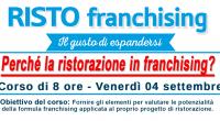 Perchè la ristorazione in franchising?<br /> CONTENUTI<br /> <br /> Che cos'è il franchising e come si applica alla ristorazione.<br /> Qual è il panorama della ristorazione in franchising in Italia oggi.<br /> Comprendere le
